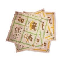 C02-CICA Gyerek textilzsebkendő 6 db, füles tasakban