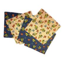 C02-VITORLÁS Gyerek textilzsebkendő 6 db, füles tasakban