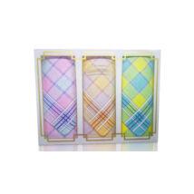 L17-10 Női textilzsebkendő 3 db, díszdobozban