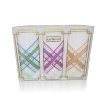 L17-6 Női textilzsebkendő 3 db, díszdobozban
