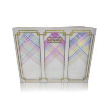 L17-8 Női textilzsebkendő 3 db, díszdobozban