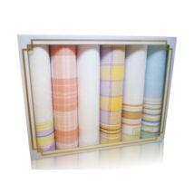 L19-19 Női textilzsebkendő 6db, díszdobozban LUX