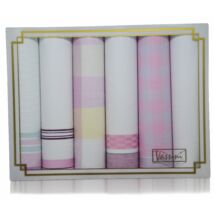 L19-21 női textilzsebkendő csomag (6db-os, rózsaszín)