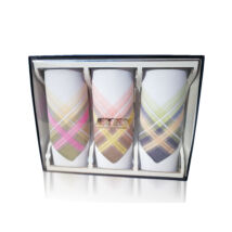 L55-8  Női textilzsebkendő 3db, díszdobozban