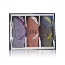 M05-4 Ffi textilzsebkendő 3db díszdobozban Jacquard