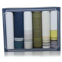 M29-16 férfi textilzsebkendő - 6db-os csomag
