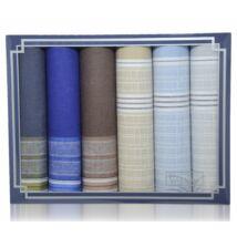 M37-10 férfi textilzsebkendő csomag (6db)