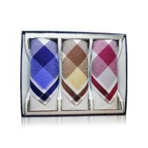 M55-11 elegáns férfi textilzsebkendők - díszdobozban