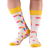 NORDKAMP Design Tetris zokni - sárga DT0604