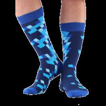 NORDKAMP Design Tetris zokni - kék 41-46 DT0602