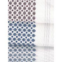 - Férfi zsebkendő 3db (fehér, színes virág  minta) ALEX 3