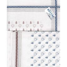 - Férfi zsebkendő 2db (fehér, villanykörte minta)