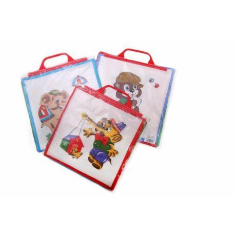 C02 Gyerek textilzsebkendő 6 db, füles tasakban