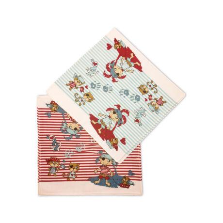 C02-KALÓZ Gyerek textilzsebkendő 6 db, füles tasakban
