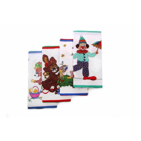 C06-BOHÓC Gyerek textilzsebkendő 6 db, tasakban