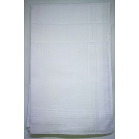 L13F FEHÉR Női textilzsebkendő 6 db, tasakban