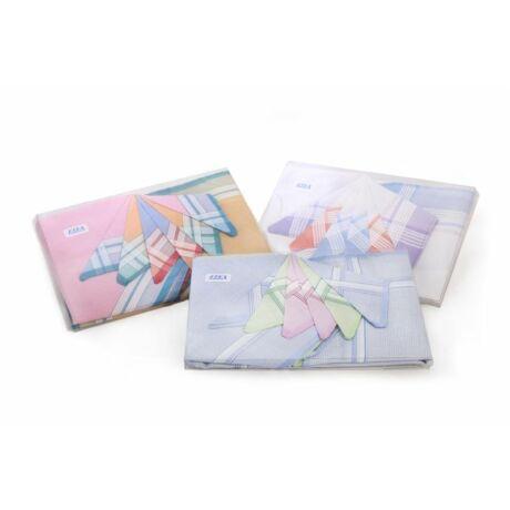 L14 Női textilzsebkendő 6 db, műanyag dobozban