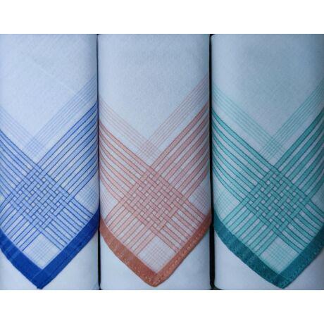 L17-12 Női textilzsebkendő 3 db, díszdobozban