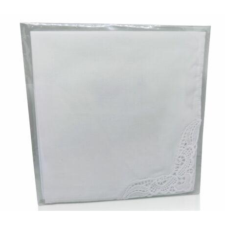 L28-0 Női hímzett textilzsebkendő 1db, tasakban