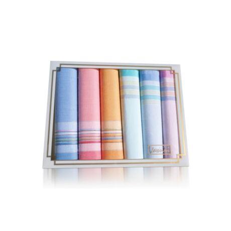 L36-1 Női textilzsebkendő 6db díszdobozban