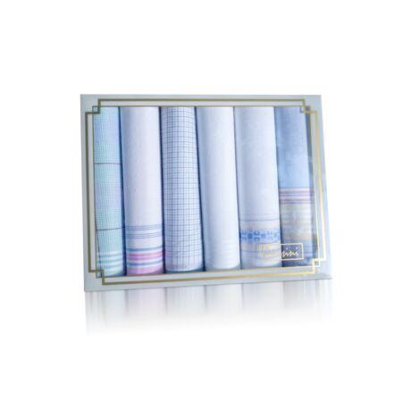 L36-2 Női textilzsebkendő 6db díszdobozban