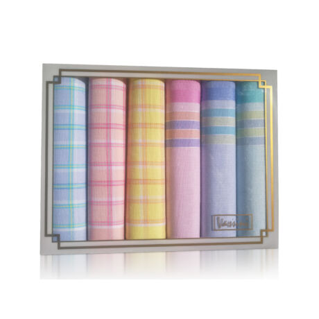 L36-20 Női textilzsebkendő 6db díszdobozban
