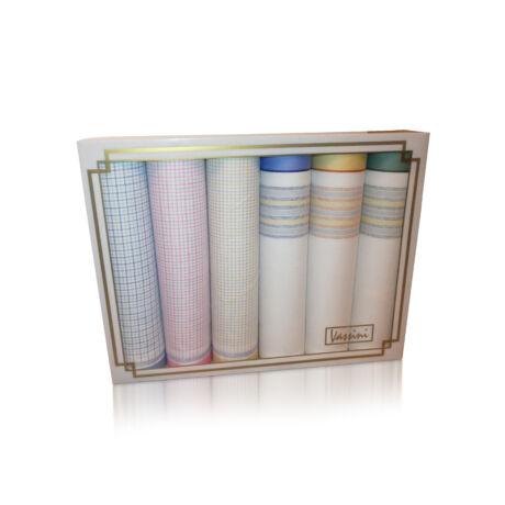 L36-22 Női textilzsebkendő 6db díszdobozban