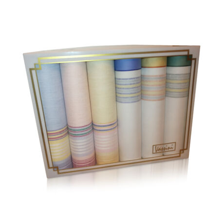 L36-24 Női textilzsebkendő 6db díszdobozban