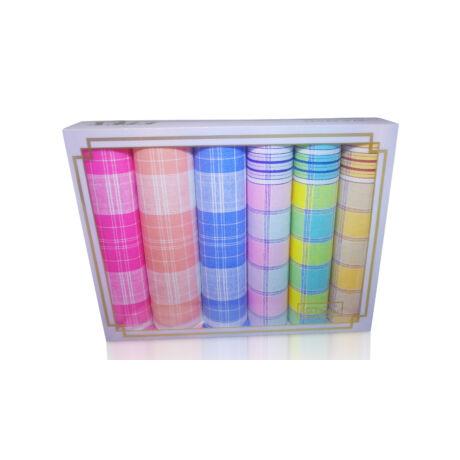 L36-25 Női textilzsebkendő 6db díszdobozban