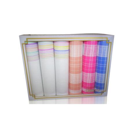 L36-27 Női textilzsebkendő 6db díszdobozban