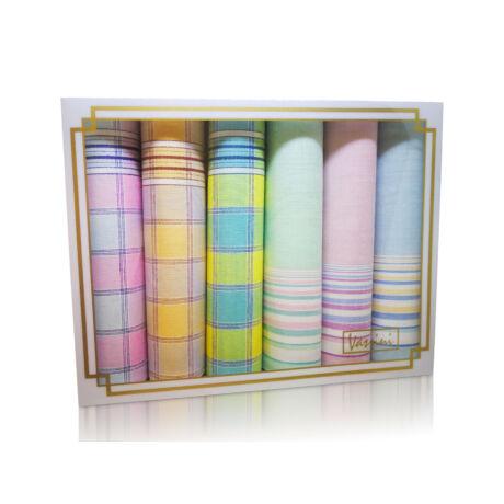 L36-30 Női textilzsebkendő 6db díszdobozban