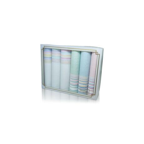 L36-32 Női textilzsebkendő 6db díszdobozban
