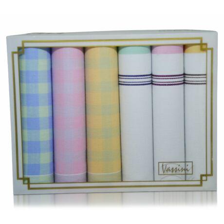 L36-33 női textilzsebkendő csomag (6db-os)