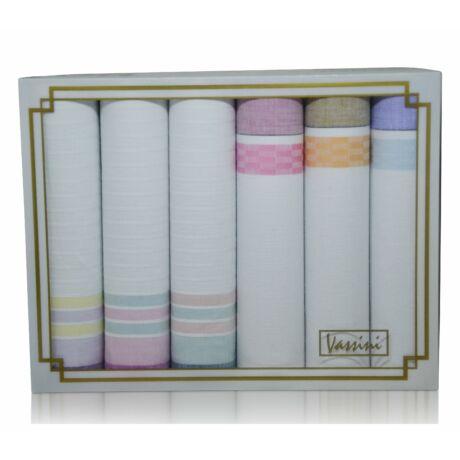 L36-34 női textilzsebkendő csomag (6db-os)