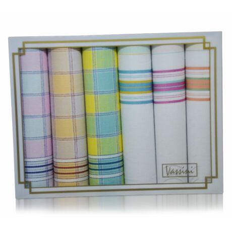 L36-35 női textilzsebkendő csomag (6db-os)