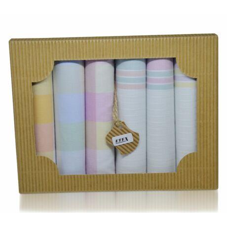 L45-1 női textilzsebkendő csomag - 6db-os