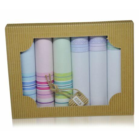 L45-2 női textilzsebkendő csomag - 6db-os ÖKO