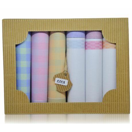 L45-4 női textilzsebkendő csomag - 6db-os ÖKO