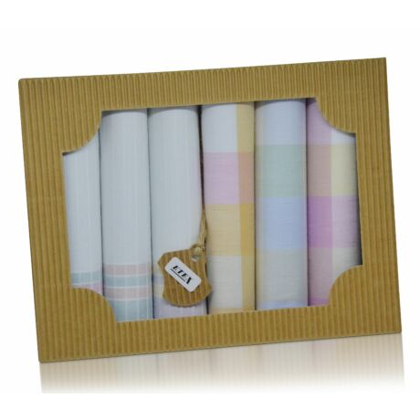 L45-5 női textilzsebkendő csomag - 6db-os