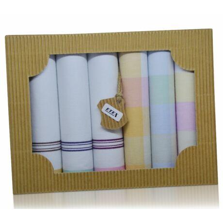 L45-6 női textilzsebkendő csomag - 6db-os