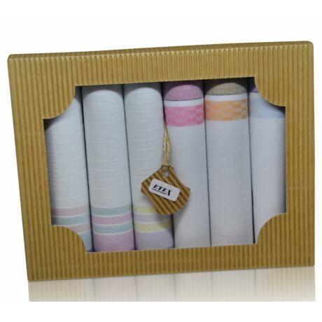 L45-7 női textilzsebkendő csomag - 6db-os