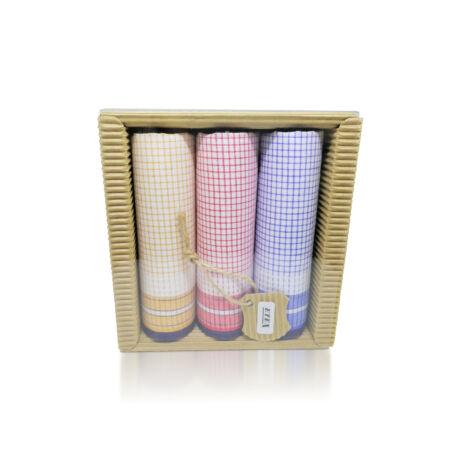 L47-1 kockás női textilzsebkendő