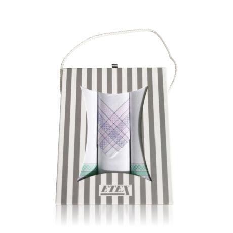 L54-1 Női textilzsebkendő 3db, ajándékdobozban