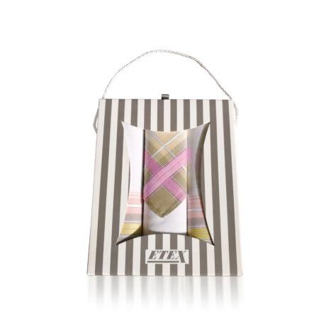 L54-2 Női textilzsebkendő 3db, ajándékdobozban
