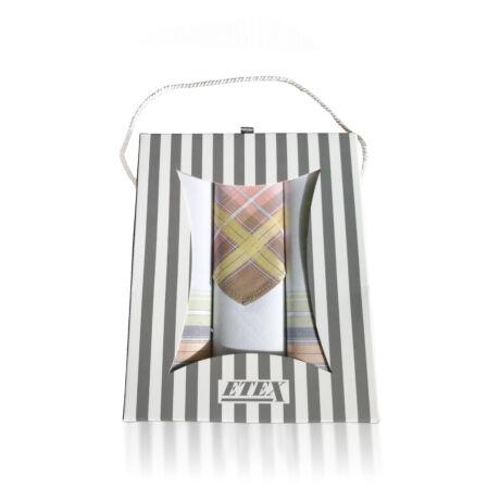 L54-3  Női textilzsebkendő 3db, ajándékdobozban