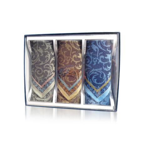 M05-1 Ffi textilzsebkendő 3db díszdobozban Jacquard
