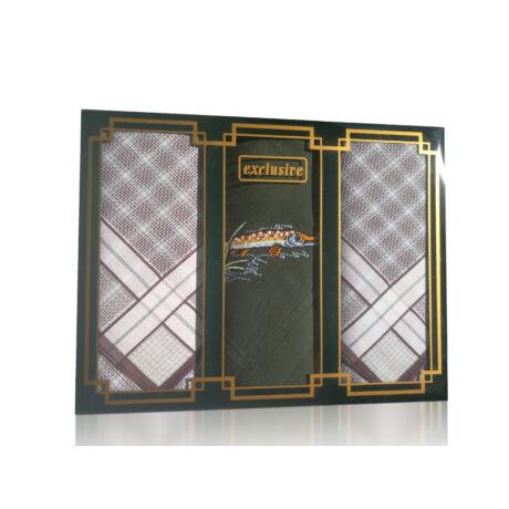 M15-CSUKA Ffi textilzsebkendő 3db, LUX díszdobozban