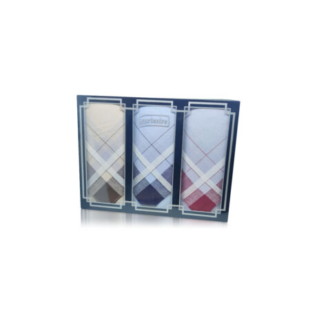 M17-13 Ffi textilzsebkendő 3db díszdobozban LUX