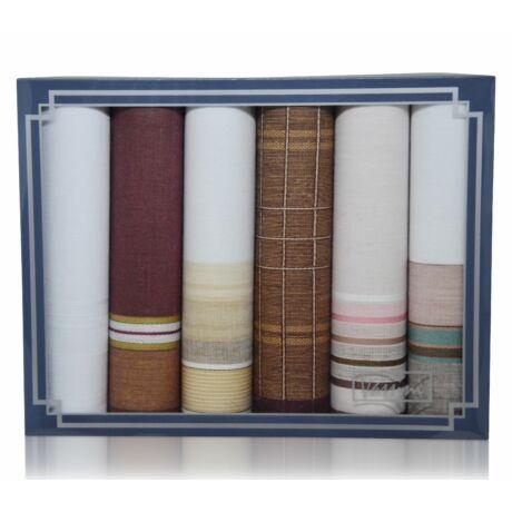 M29-17 férfi textilzsebkendő csomag - 6db