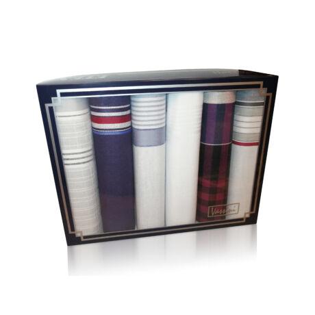 M29-6 Ffi textilzsebkendő 6db, LUX díszdobozban